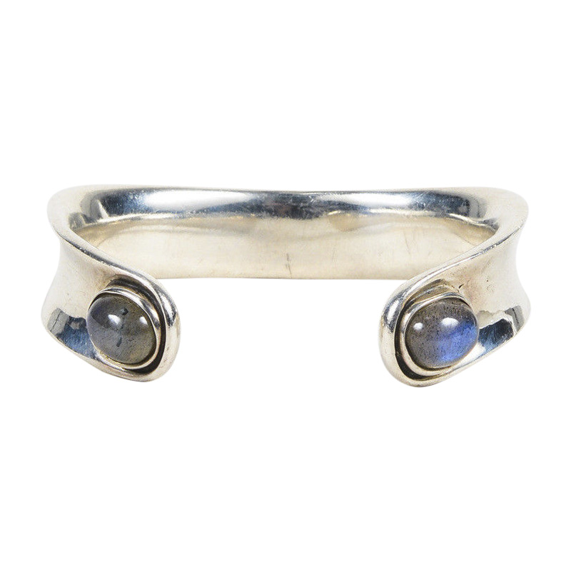 """Image of """"Barry Kieselstein-Cord 925 Sterling Silver & Moonstone Cabochon Open"""""""