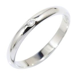 Cartier 950 Platinum & Diamond Wedding Band Ring Size 4.5