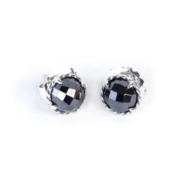 David Yurman Chatelaine Sterling Silver with Hematine Earrings