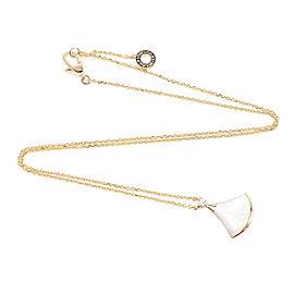 Bulgari 18K Rose Gold Shell & Diamond Divas' Dream Pendant Necklace