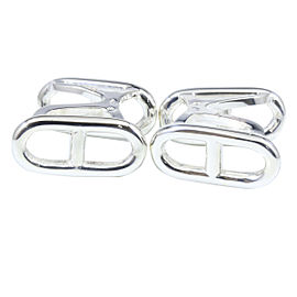 Hermes 925 Sterling Silver Chaine Dancre Cufflinks