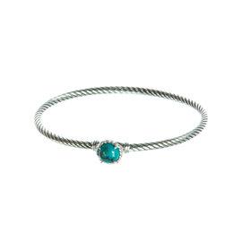 David Yurman 925 Sterling Silver & Turquoise Chatelaine Bracelet