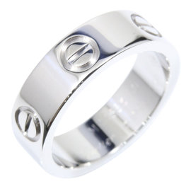 Cartier Love 18K White Gold Band Ring Size 5.25