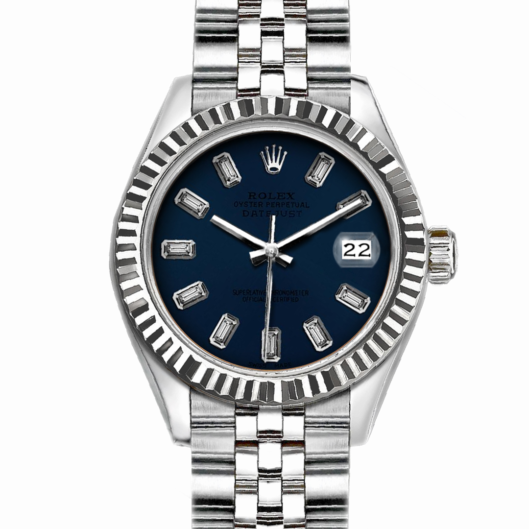 "Image of ""Rolex Datejust Stainless Steel with Dark Blue Dial 26mm Womens Watch"""