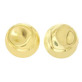 Tiffany & Co. Elsa Peretti Spain Vintage 18K Yellow Gold Button Earrings