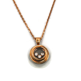 Chopard Happy 18K Rose Gold Diamond Pendant