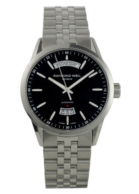 "Image of ""Raymond Weil 2720-St-20021 Freelancer Day Date Automatic Stainless"""