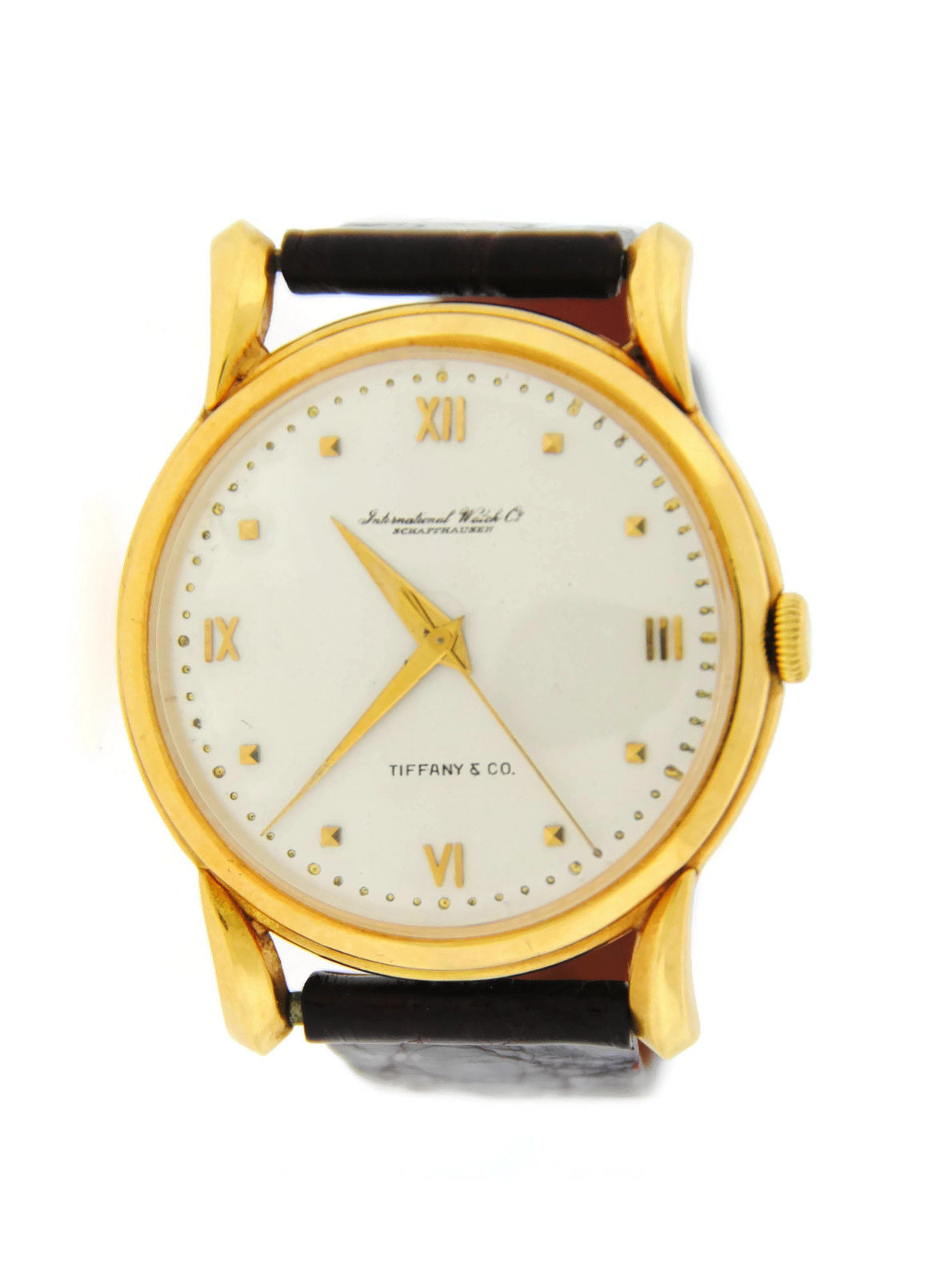 "Image of ""IWC Tiffany & Co. Dial 18K Yellow Gold Watch 36mm Mens Watch"""