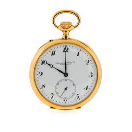 IWC 31457 Vintage 14K Yellow Gold 54mm Pocket Unisex Watch