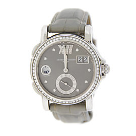 Ulysse Nardin 243-22 Big Date GMT Diamond Stainless Steel Watch