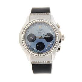 Hublot 1810.1.054 MDM Blue Dial Diamond Chronograph Stainless Steel Womens Watch