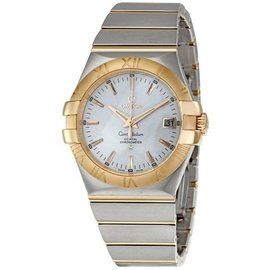 Omega 123.20.38.21.02.001 Constellation 18K Rose Gold/Stainless Steel Mens Watch