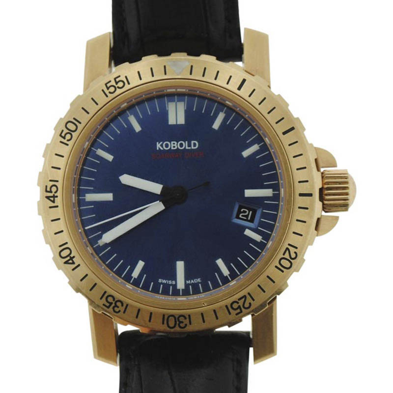 """Image of """"Kobold Soarway Diver Kd242126 18K Yellow Gold Automatic 41mm Mens"""""""