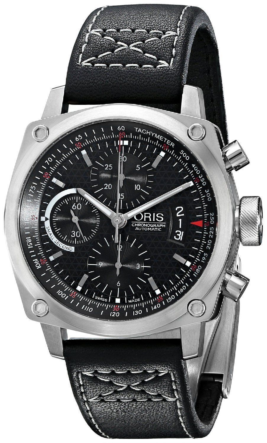 """Image of """"Oris BC4 674-7616-4154-075 Chronograph Automatic Stainless Steel Watch"""""""
