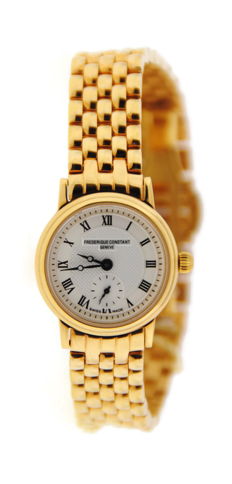 "Image of ""Frederique Constant Fc235 Gold Tone Stainless Steel Quartz 23mm Womens"""
