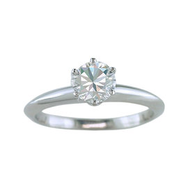 Tiffany & Co. Certified Diamond Solitaire Platinum Engagement Ring