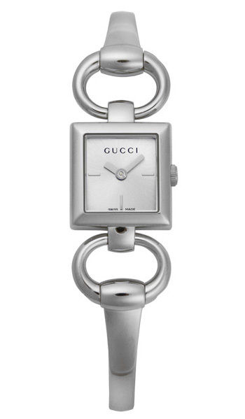 "Image of ""Gucci Ya120502 Tornabuoni Silver Dial Stainless Steel Womens Watch"""