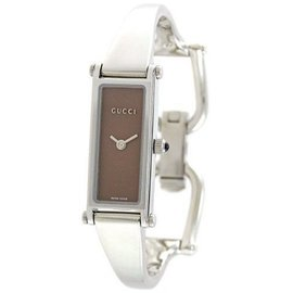Gucci YA015539 Brown Dial Stainless Steel Womens Watch
