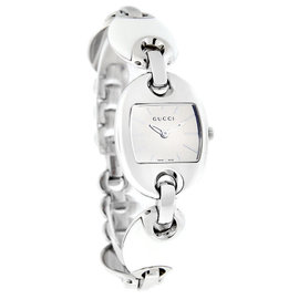 Gucci Marina Chain YA121515 White Enamel Stainless Steel Watch