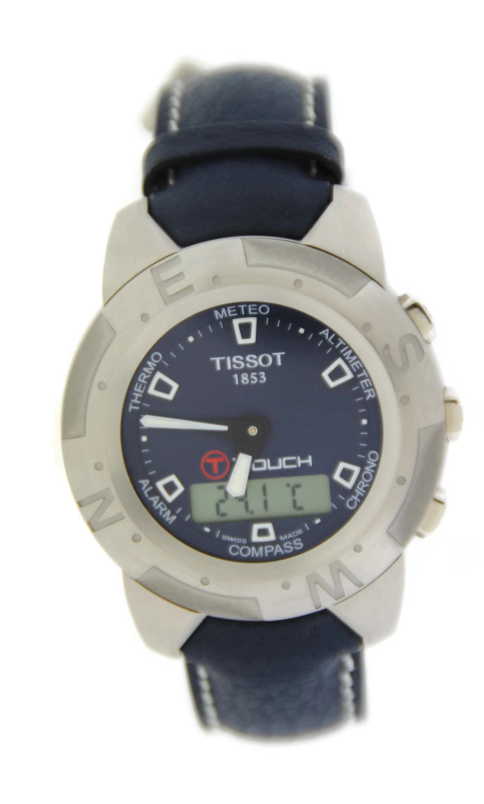 "Image of ""Tissot T33153841 T-Touch Chronograph Stainless Steel Watch"""