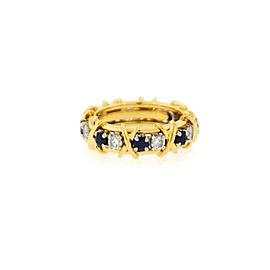 Tiffany & Co. Jean Schlumberger Platinum 18k Yellow Gold Sapphires Diamond Ring