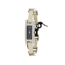 Gucci YA039525 3900L G Link Black Dial Stainless Steel Watch