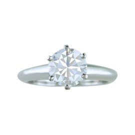 Tiffany & Co. Diamond Solitaire Platinum Engagement Ring