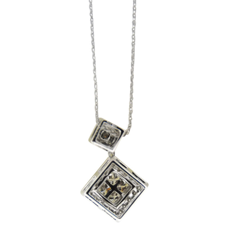 "Image of ""Charriol 18K White Gold Flamme Blanche Diamond Pendant Necklace"""