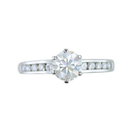 Tiffany & Co. Platinum 1.57ct Diamond Engagement Ring Sz 8