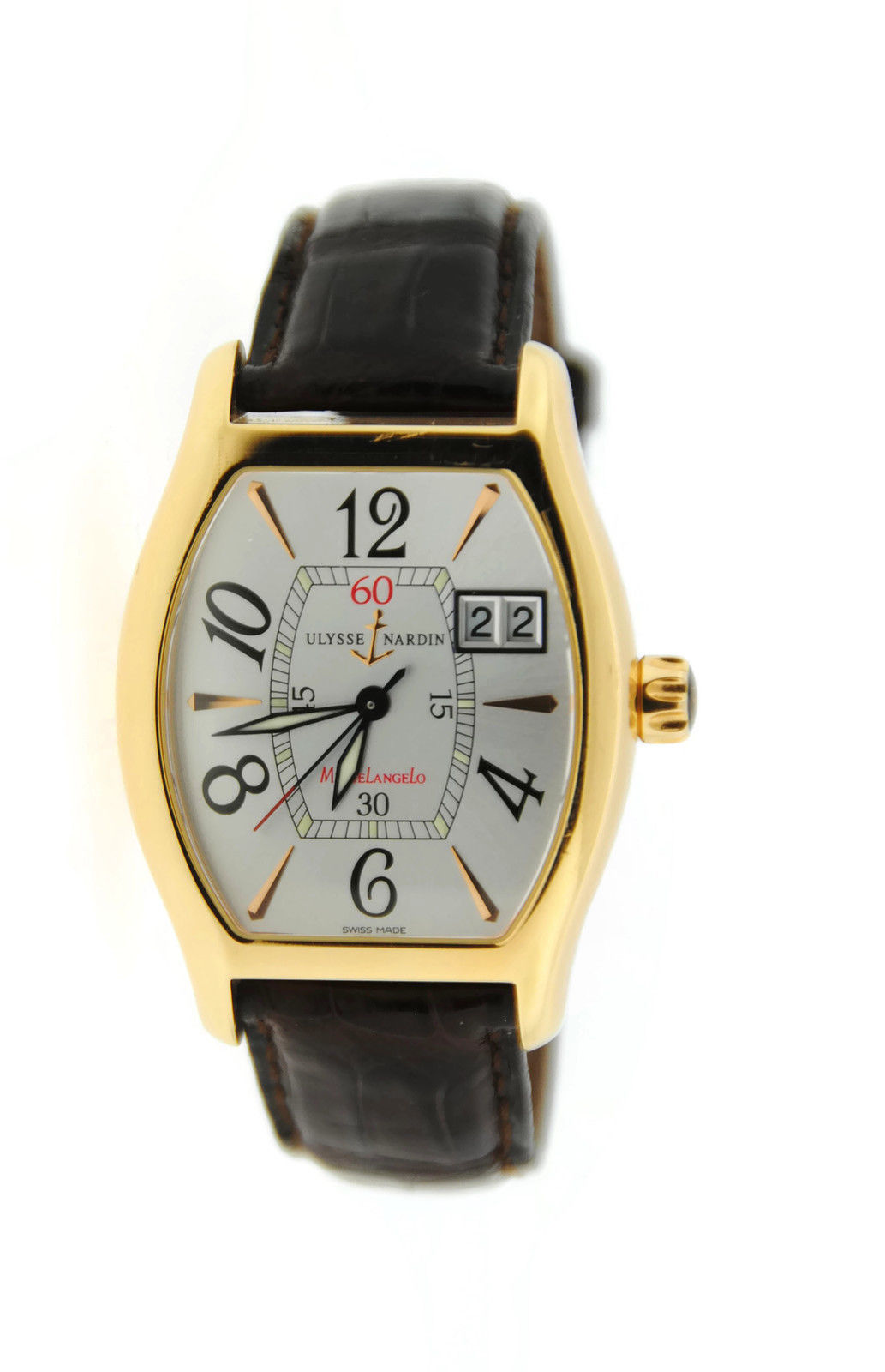 "Image of ""Ulysse Nardin 236-68 Michelangelo Big Date 18K Rose Gold Mens Watch"""