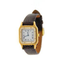 Cartier Santos Dumont Manual Winding 18K Yellow Gold Womens Watch