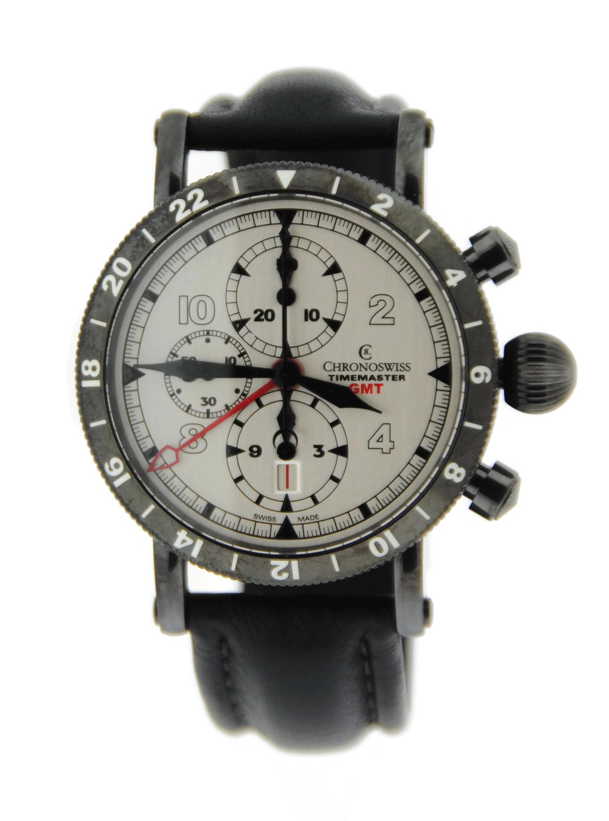 "Image of ""Chronoswiss Timemaster Ch-7535-Gst GMT Black Stainless Steel Mens"""