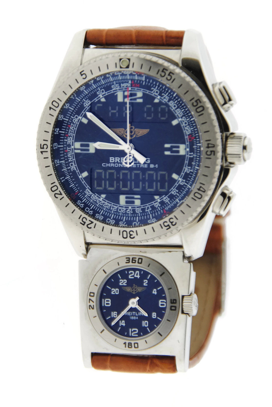"Image of ""Breitling B-1 UTC A78362 Stainless Steel Watch"""