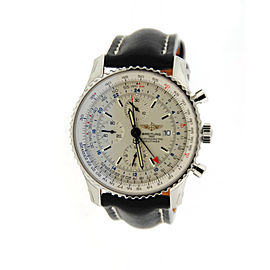 Breitling AB012721-C889-747P-A20D.1 Navitimer World Chronograph Stainless Steel Mens Watch