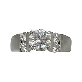 18K White Gold 1.47 Ct Round Diamond Engagement Ring