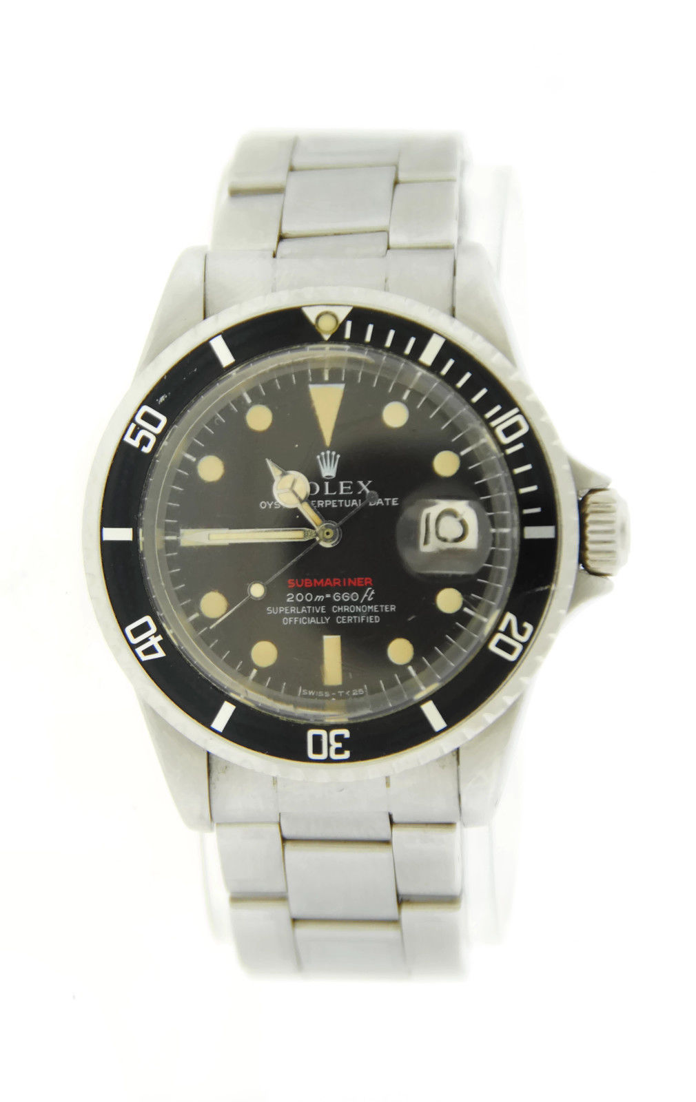 "Image of ""Rolex Submariner 680 Tropical Dial Stainless Steel Mens Watch"""