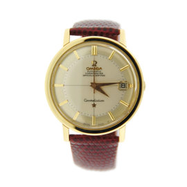 Omega Constellation 168004/14 Pie Pan Automatic 14K Yellow Gold Mens Watch