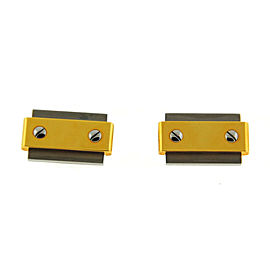 Cartier Santos 18K Yellow Gold Stainless Steel Cufflinks