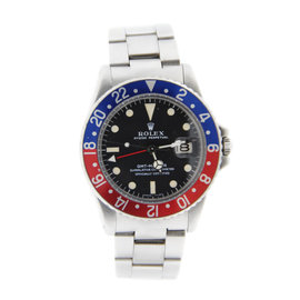 Rolex GMT-Master Pepsi 1675 Stainless Steel Automatic 40mm Mens Watch 1969