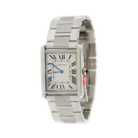 Cartier Tank Solo W5200014 Stainless Steel Quartz 27mm Unisex Watch