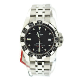 Tudor Hydronaut 20030 Stainless Steel Black Dial Automatic 40mm Mens Watch