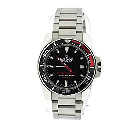 Tudor Hydronaut II 20060N Stainless Steel Black Dial 40mm Mens Watch
