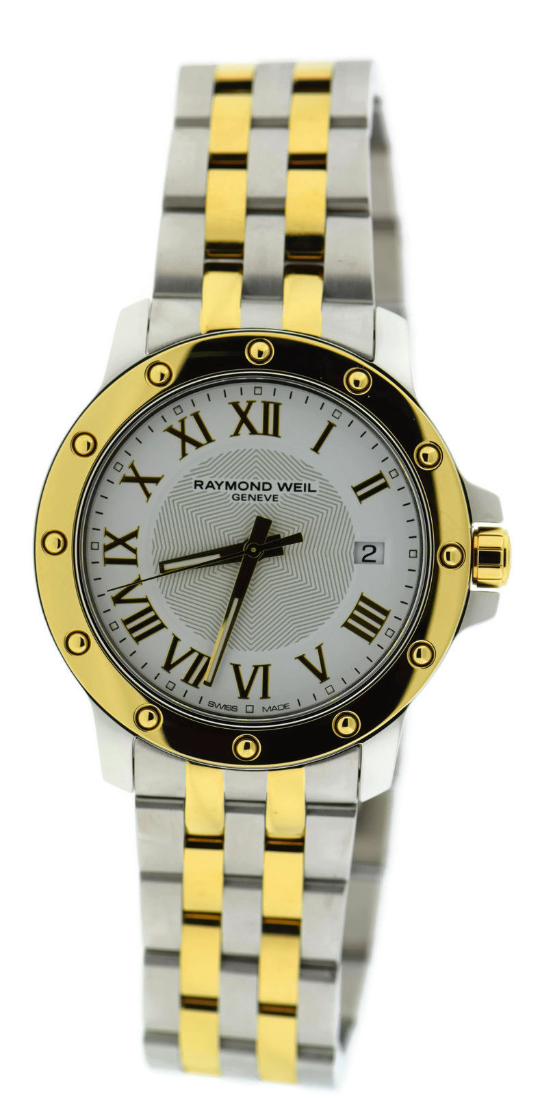 "Image of ""Raymond Weil Tango Two Tone Stainless Steel 39mm Mens Watch"""