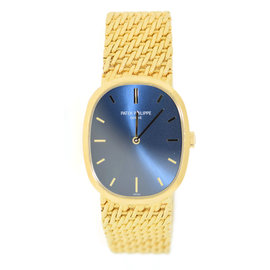 Patek Philippe Elipse 3546 18K Yellow Gold Blue Dial Manual 27mm Unisex Watch