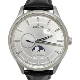 Zenith Captain Moonphase 03.2143.691 Date Stainless Steel Silver Dial 40mm Watch