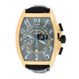 Franck Muller Mariner 18K Rose Gold / Leather 47mm Mens Watch