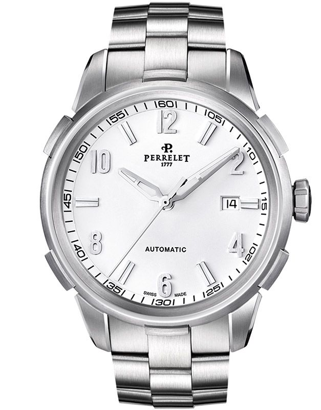 "Image of ""Perrelet Class-T A1068/a Stainless Steel Automatic White Dial 42mm"""