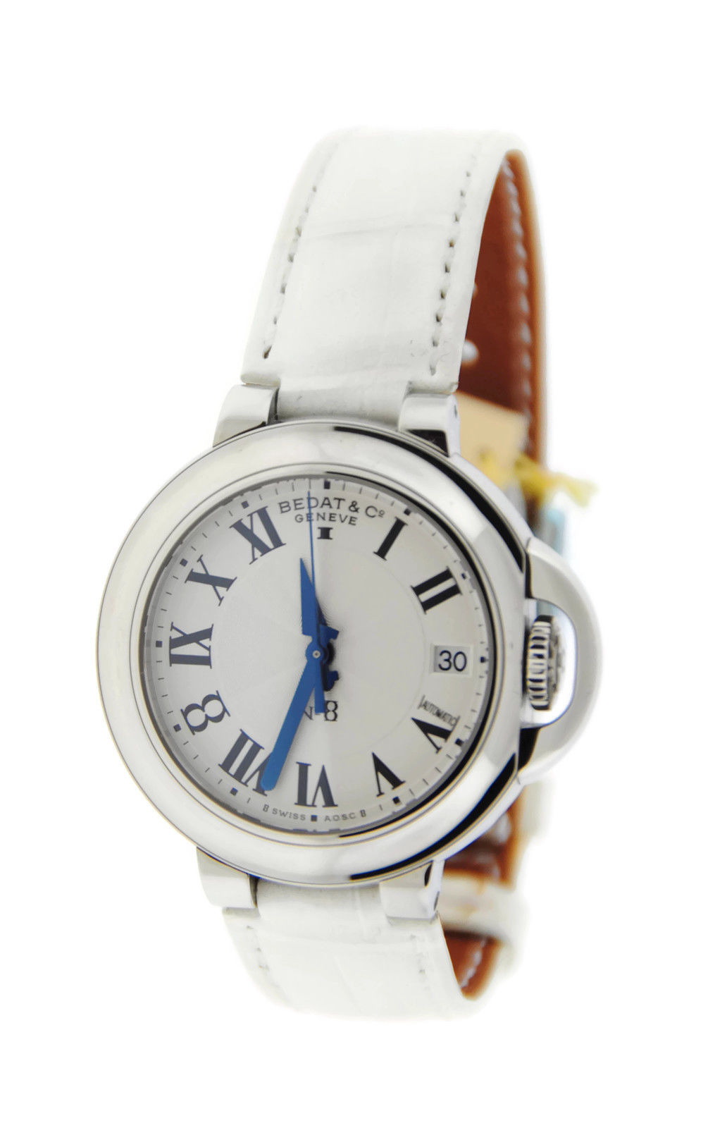 "Image of ""Bedat & Co. 828.011.600 No.8 Stainless Steel & Leather Automatic"""