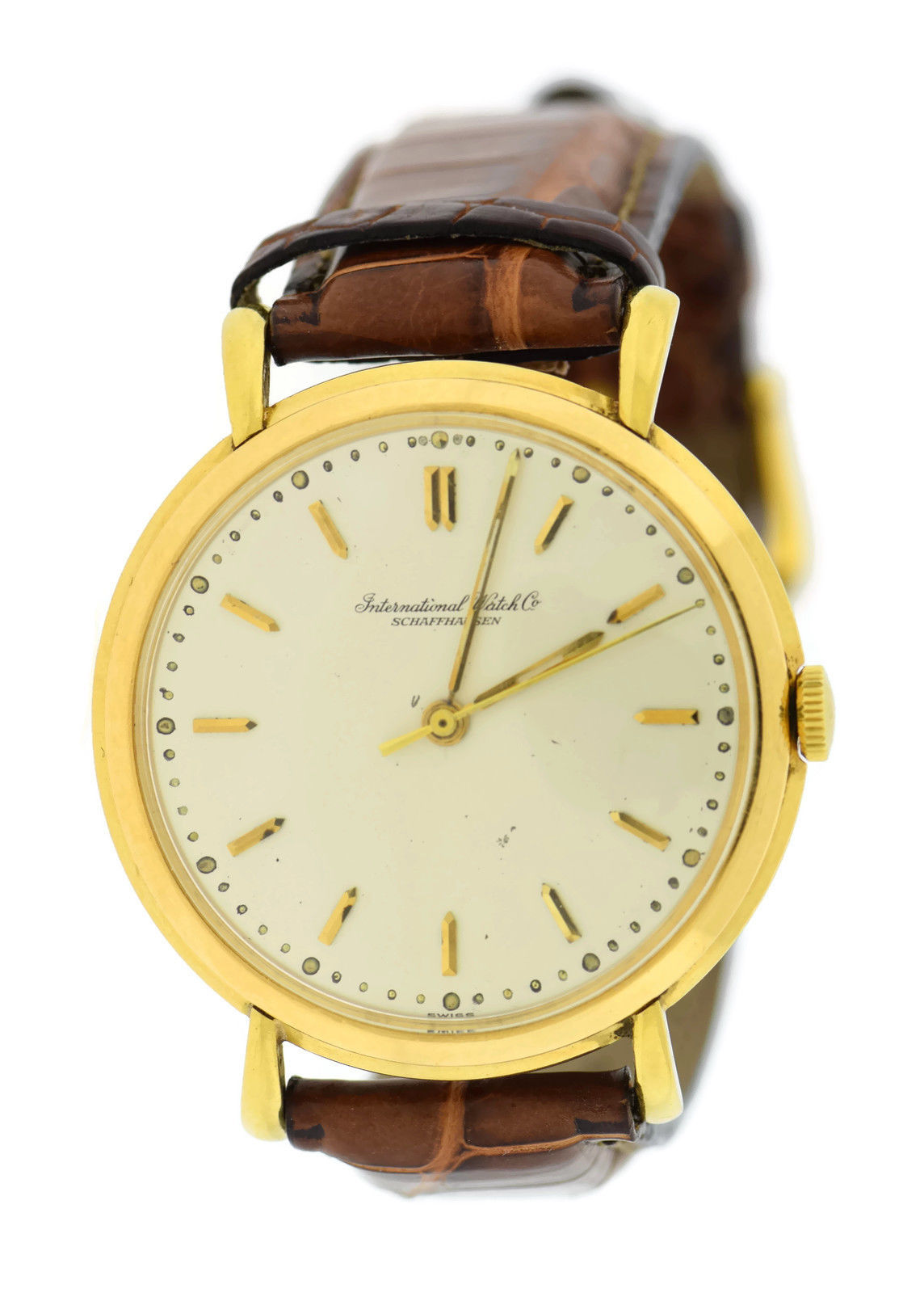 "Image of ""IWC 18K Yellow Gold 37mm Mens Vintage Watch"""
