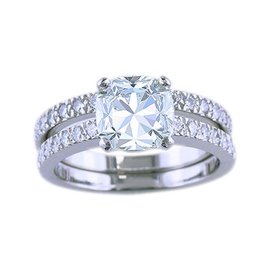 Tiffany & Co. Novo 1.53ct Diamond Platinum Engagement Ring Size 3.75